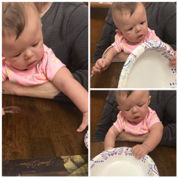 aileen baby angel playing spoon