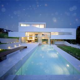 mansion swimmingpool white sparkle plzfollowandlike