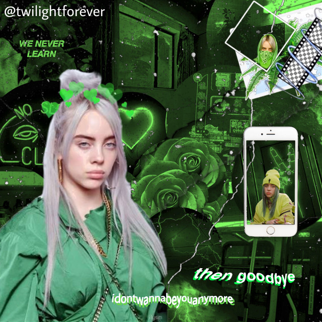 open 🔓  💚💚💚  mood: sleepy 😴 theme: billie eillish, green 💚 time: 1:55   💚💚💚  #billieeilish #green #aesthetic #phone