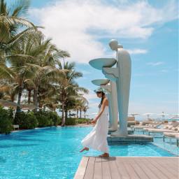 bali hotel pool travel summer freetoedit