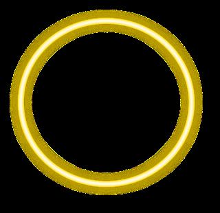 yellow neon circle border png freetoedit