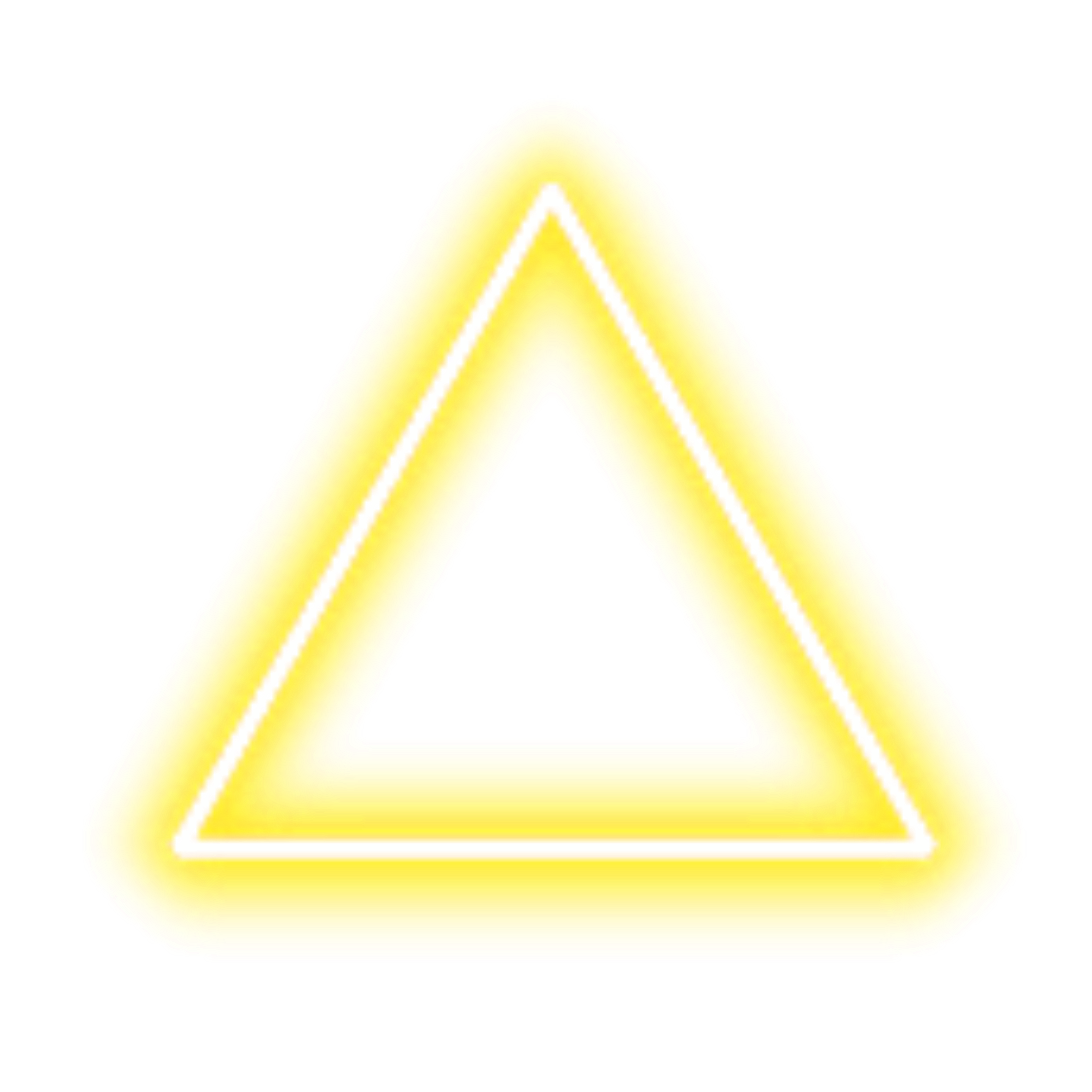 neon triangle border png yellow freetoedit