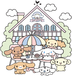 sanrio cinamonroll cafe kawaii japan freetoedit