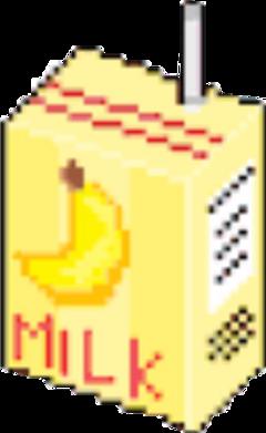 milkshake banana bananamilk kawaii pixel freetoedit
