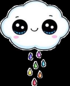 cloud kawaii japan rainbow rainbowtears freetoedit