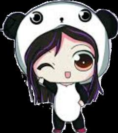 anime panda kawaii animepanda freetoedit