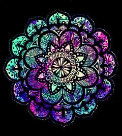 ftestickers mandala pattern zen flowers freetoedit