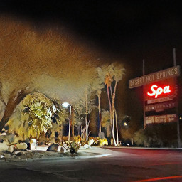 neon neonsigns deserthotsprings spa night
