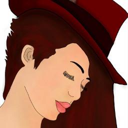 freetoedit drawing girl hat dchats