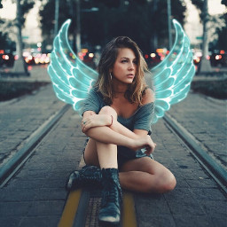 wings neon neonwings angelwings freetoedit