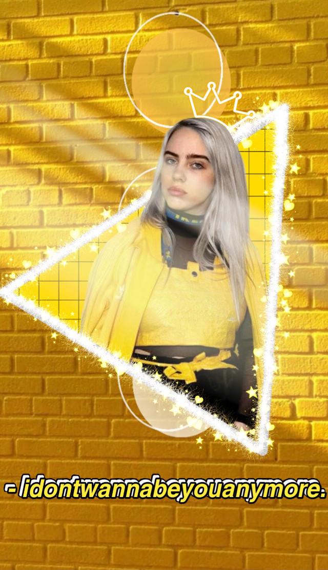#aesthetic #yellowaesthetic #yellow #billieeilish #eilishbillie #billie #eilish