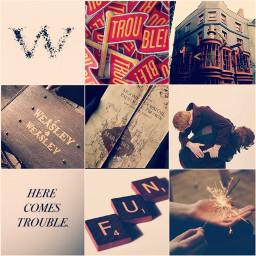 fredweasley georgeweasley weasley weasleytwins aesthetics