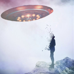 thanoswashere ufo aliens alien sureal freetoedit