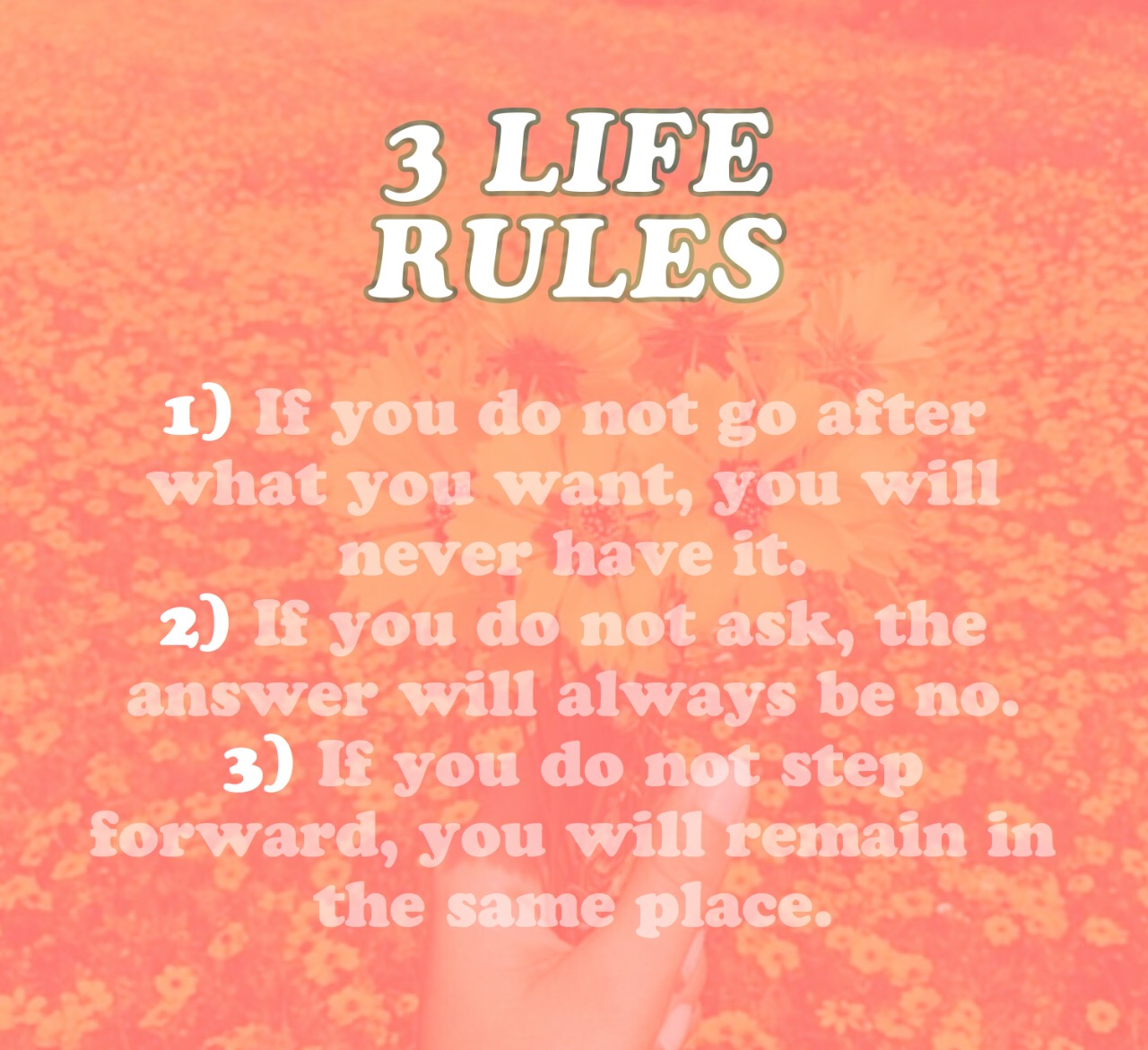 follow the rules babe ☝️👌🌼 liferules positive posit