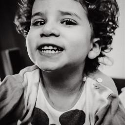 portrait blackandwhite cildren smile