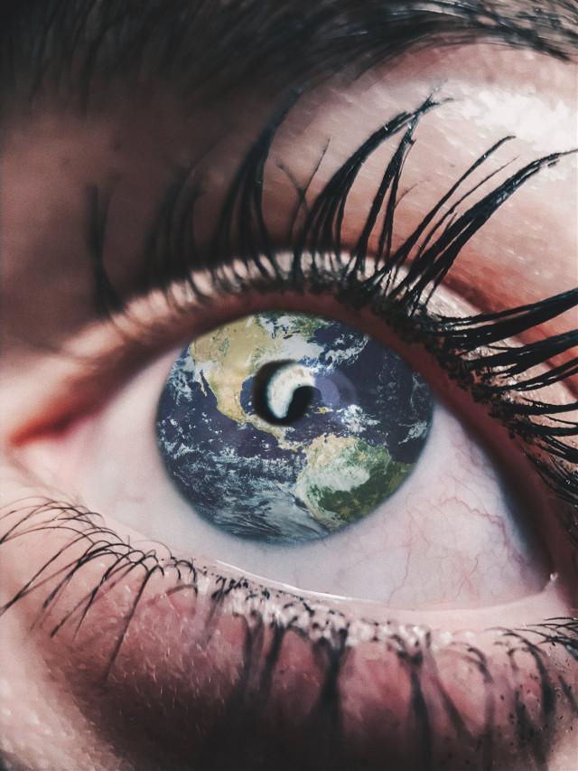 ~ travel, breathe, live ~   #freetoedit #eye #eyes #ojo #ojos #earth #latierra #planet #planeta #map #mapamundi #mapa #travel #viaja