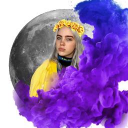 art billieeilish moon smoke flowercrown freetoedit