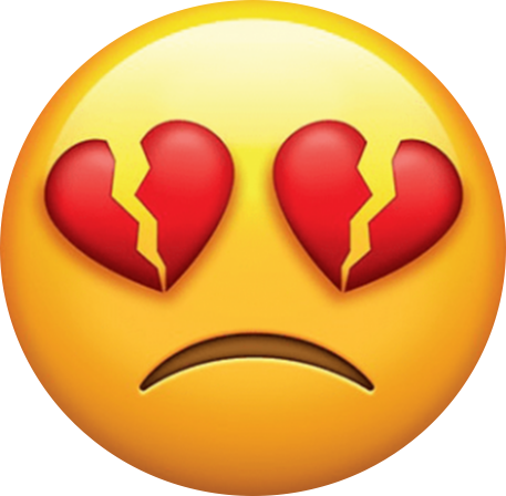 Sad emoji heartbroken. Emojis heartbreak sticker heart