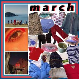 freetoedit march monthaesthetic redaesthetic blueaesthetic