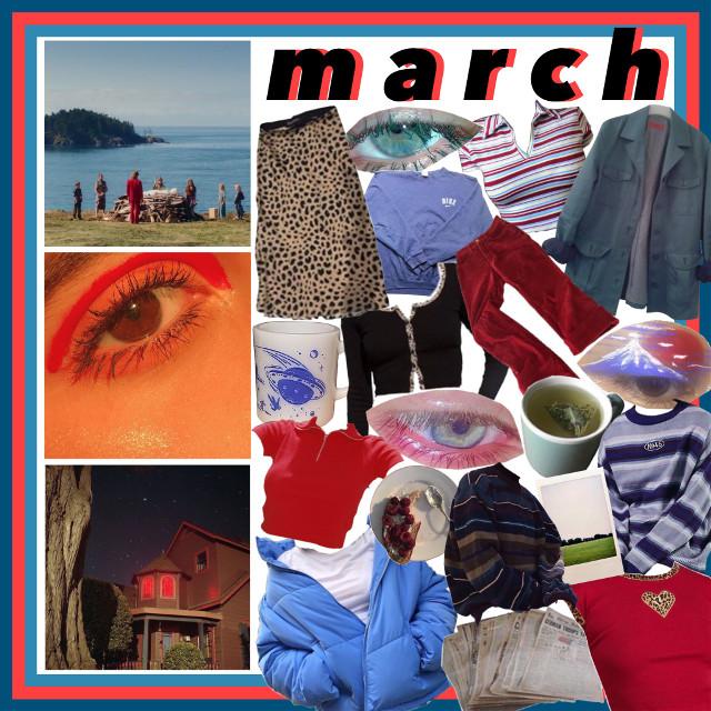 #freetoedit #march #monthaesthetic #redaesthetic #blueaesthetic