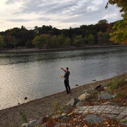 fishing goldenhour seasons pond freetoedit