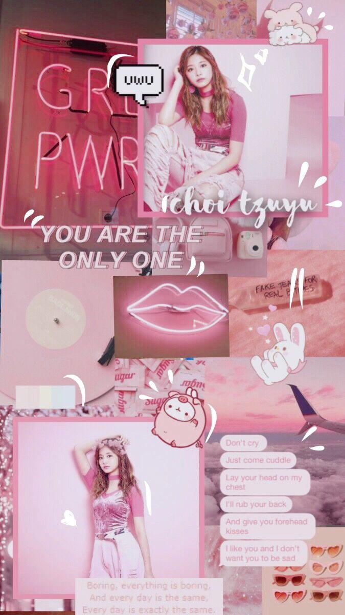 Tzuyu Twice Yesoryes Dtna Cute Lips Pink Aesthetic Soft