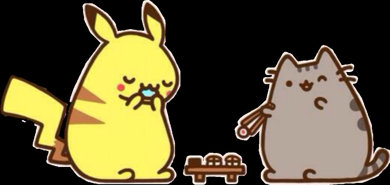 #kawaii #pusheen #pushine #picachu #pokemon