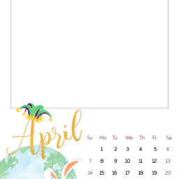 april calendar freetoedit