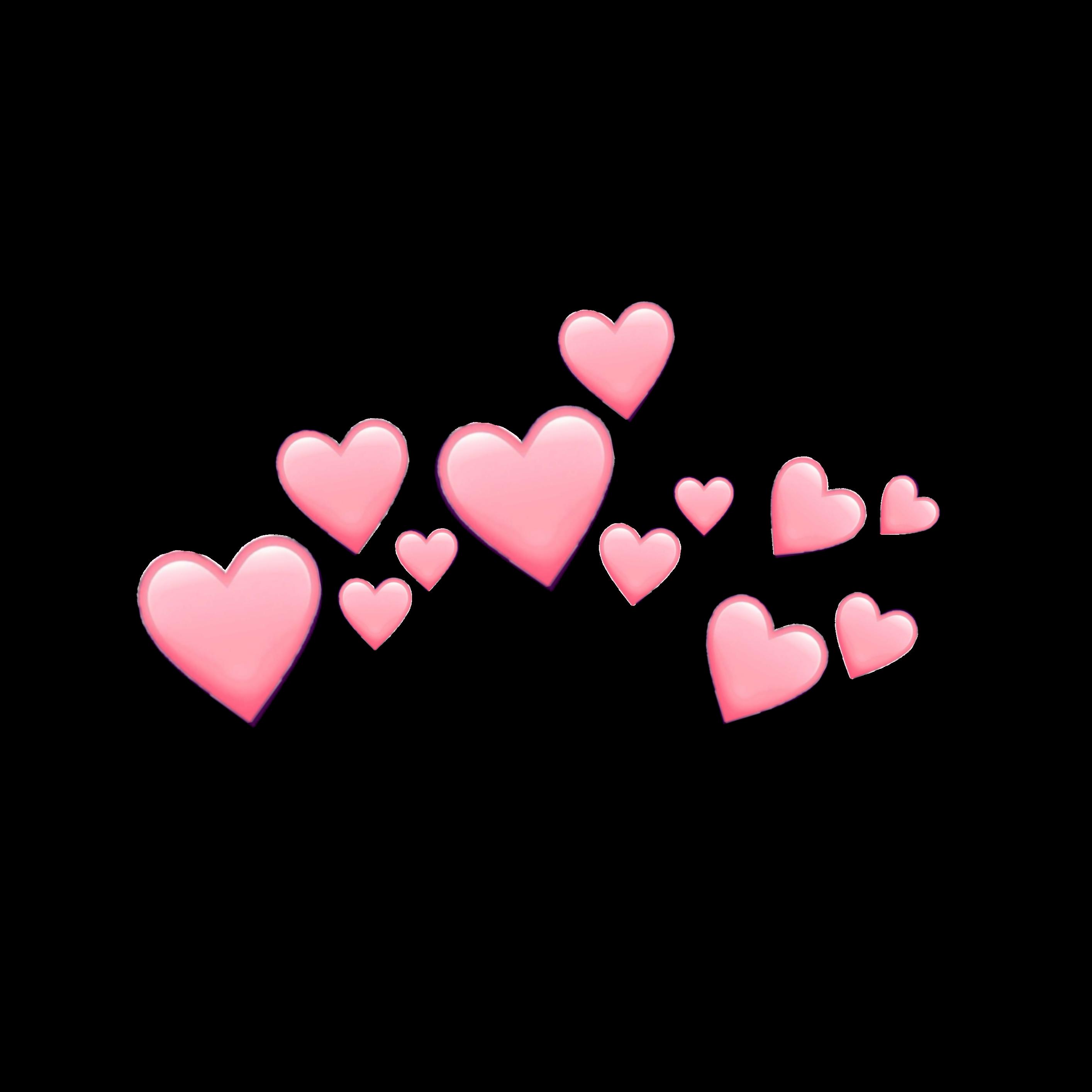 pink hearts emoji pinkemoji heart heartemoji crown cute...