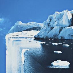 ecsurrealisticworld polar iceberg snow ocean freetoedit
