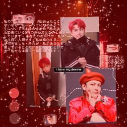 ateez hongjoong ateezhongjoong red hongjoongred freetoedit