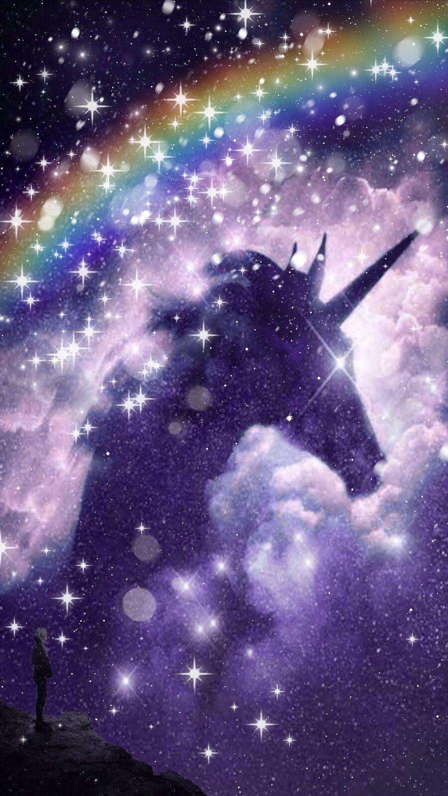 Galaxy Anime Galaxy Wolf Girl Unicorn Anime Wallpapers