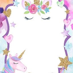invitacion invitation unicorn unicornio