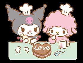 kuromi sanrio cake love baking freetoedit