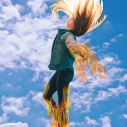 freetoedit flyaway powerful magic superhero