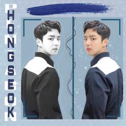 kpop pentagon pentagonhongseok blue aestheticedit freetoedit