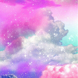 sky cloud rainbow pastel background