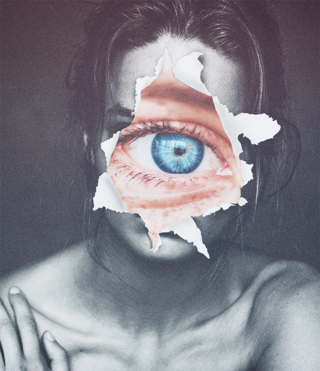 #freetoedit Its creepy i know #creepy #surreal #surrealism #faceart #face #eye