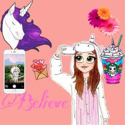 freetoedit unicorn believe unicornonesie unicornfrappucino
