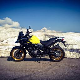 suzukivstromxt snow motorcycle yellow lumia950xl pcsnowyslopes snowyslopes