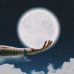 moon moons hand inmyhand freetoedit