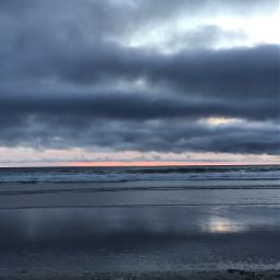 pismobeach sunset cloudy waves
