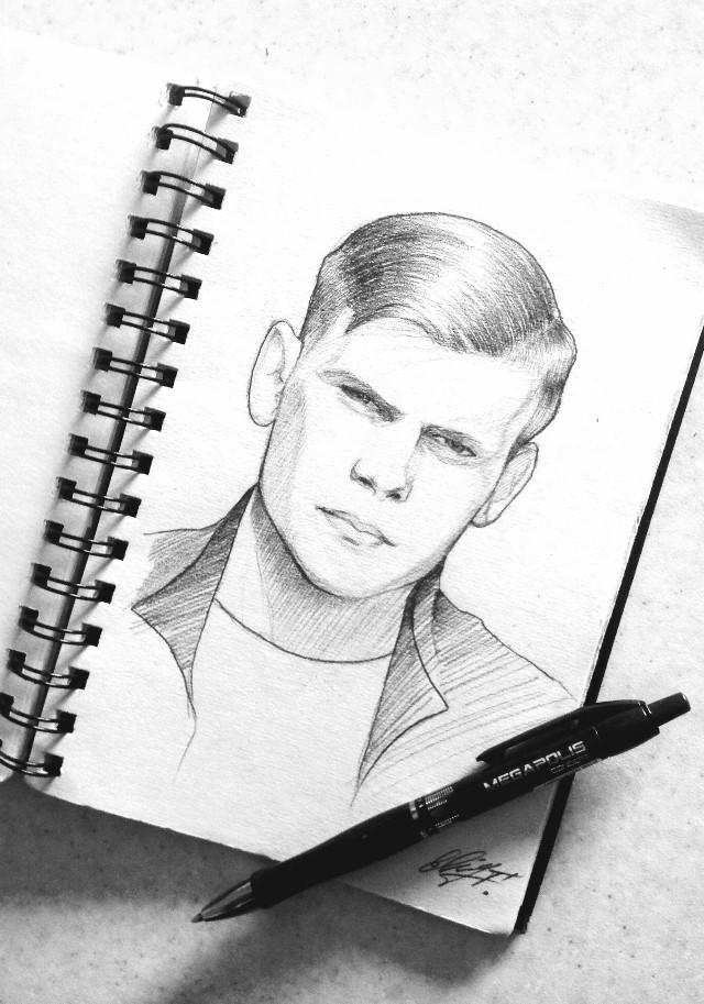 #freetoedit #drawing #art #sketch #portrait #blackandwhite My friend