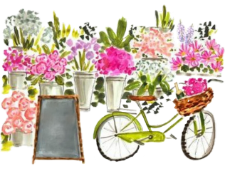 freetoedit watercolor market bike bicycle