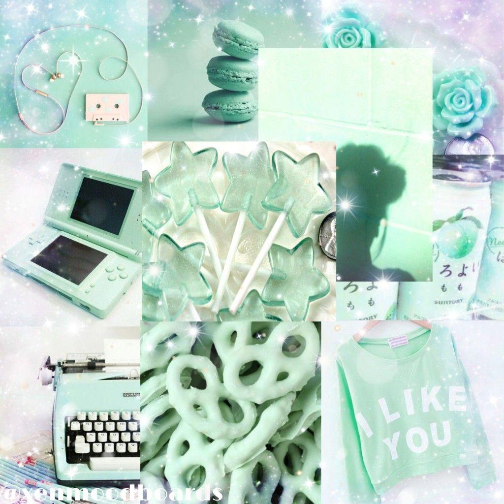 6bef663c6a7 #moodboard #aesthetic #mint #pastelgreen