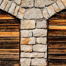 texture wood stone garage