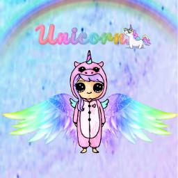 unicorn love cute rainbow colurfull