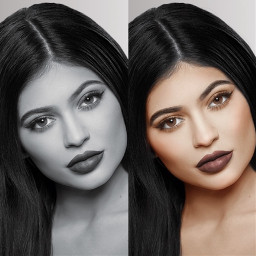 interesting art recolor recoloredit kyliejenner