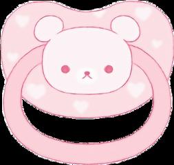 paci pacifier pink bear cute freetoedit