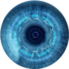 cyborg blue eye robot freetoedit